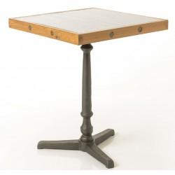 Stół Loft z Metalowym Blatem