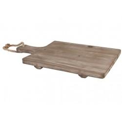 Drewniana Taca ze Sznurkiem