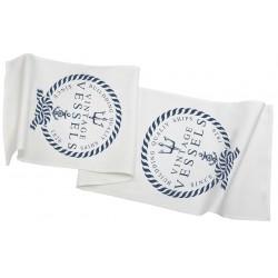 Bieżniki Na Stół Duże Białe Marynistyczne 3N
