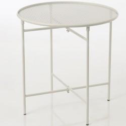 Metalowy Stolik Loft Biały