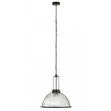 Lampa ze szkła i metalu doskonale nadaje się do oświetlenia wysokich wnętrz. Jasne światło i prosty design to jej cechy rozpoznawcze.