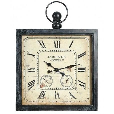 Kwadratowy zegar w stylu retro