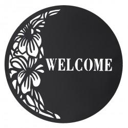 Dekoracja Ścienna Metalowa Welcome