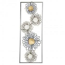 Dekoracja Ścienna Metalowa Kwiaty E