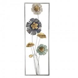 Dekoracja Ścienna Metalowa Kwiaty F