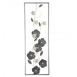 Dekoracja Ścienna Metalowa Kwiaty G