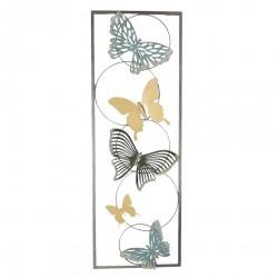 Dekoracja Ścienna Metalowa Z Motylami E