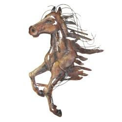 Dekoracja Ścienna Metalowa Koń
