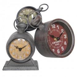 Zegar Stołowy Retro Potrójny
