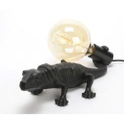 Lampa Stołowa Krokodyl Czarny A