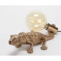 Lampa Stołowa Krokodyl Złoty A