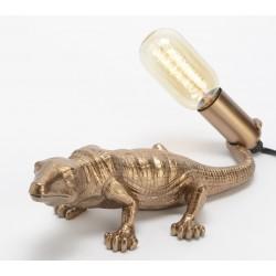 Lampa Stołowa Krokodyl Złoty B