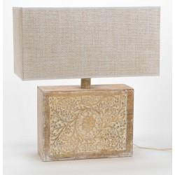 Lampa Stołowa Drewniana A