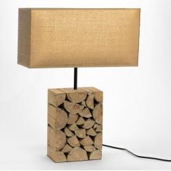 Lampa Stołowa Drewniana C