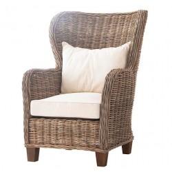 Fotel Rattanowy z Poduszkami Numi
