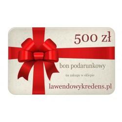 Bon podarunkowy o wartości 500 zł