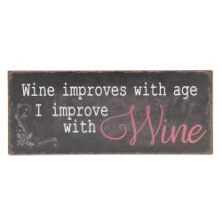Metalowa Tabliczka Wino