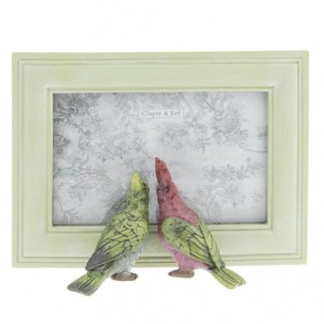Prostokątna ramka na zdjęcie z kolorowymi papugami to świetny sposób na oprawienie zdjęć z egzotycznych wakacji.