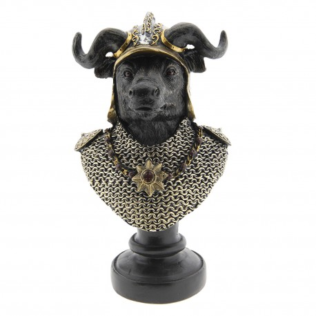 Oryginalna, dla jednych zabawna, dla innych stylowa figurka ozdobna z bykiem w koronie.