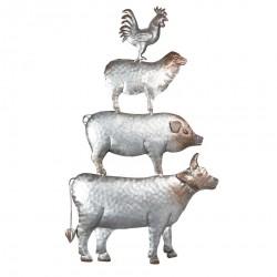 Metalowe Zwierzęta Na Ścianę A