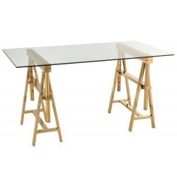 Złoty Stół Ze Szklanym Blatem