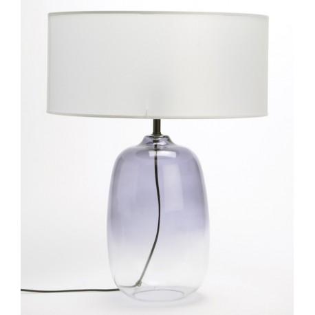 Szklana Lampa Stołowa Przezroczysta C