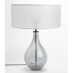Szklana Lampa Stołowa Przezroczysta B