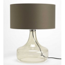 Szklana Lampa Stołowa Przezroczysta D