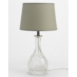 Szklana Lampa Stołowa Przezroczysta E