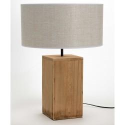Drewniana Lampa Stołowa