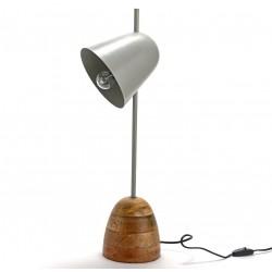 Lampka Biurkowa w Stylu Industrialnym Szara