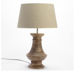 Drewniana Lampa Stołowa A