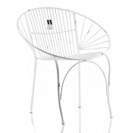 Metalowy Fotel Prowansalski Abro