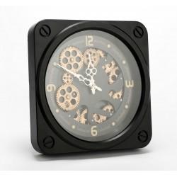 Czarny Zegar w Stylu Industrialnym A