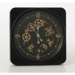 Czarny Zegar w Stylu Industrialnym B