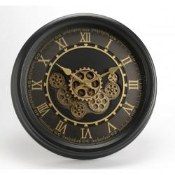Czarny Zegar w Stylu Industrialnym C