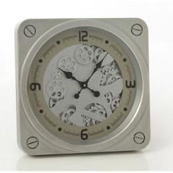 Srebrny Zegar w Stylu Industrialnym A