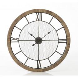 Duży Zegar z Drewnianą Ramą B