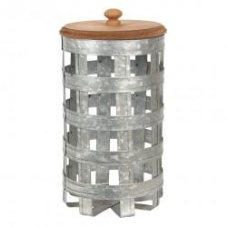 Metalowy Pojemnik Ażurowy