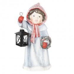 Figurka Świąteczna Dziewczynka z Lampionem B