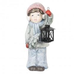 Figurka Świąteczna Dziewczynka z Lampionem C