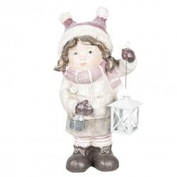 Figurka Świąteczna Dziewczynka z Lampionem D
