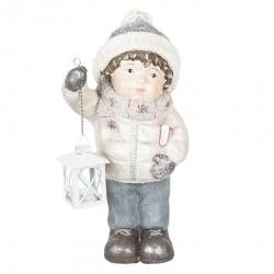 Figurka Świąteczna Dziewczynka z Lampionem E