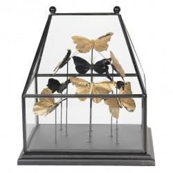 Dekoracja w Szklanym Kloszu Motyle A