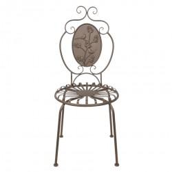 Metalowe Krzesło Prowansalskie Brązowe B