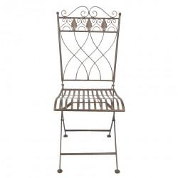 Metalowe Krzesło Prowansalskie Brązowe C