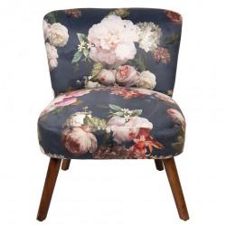 Fotel z Kwiatowym Wzorem A