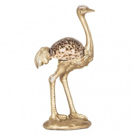 Dekoracyjna figurka wykonana została z tworzywa i poamlowana złotym lakierem.