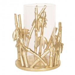 Złoty Świecznik Na Tealight Bambus B