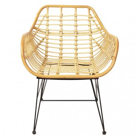 Rattanowe krzesło skandynawskie genialnie sprawdzi się w salonie oferując jednocześnie komfortowy odpoczynek.